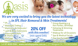 oasis day spa toowoomba